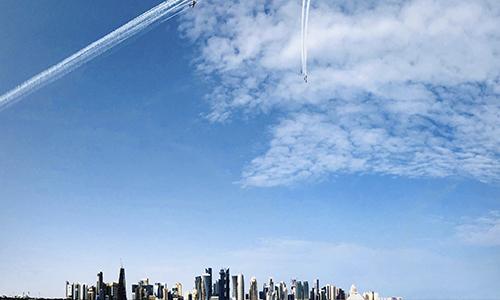 В небе «нарисовали» флаг Катара
